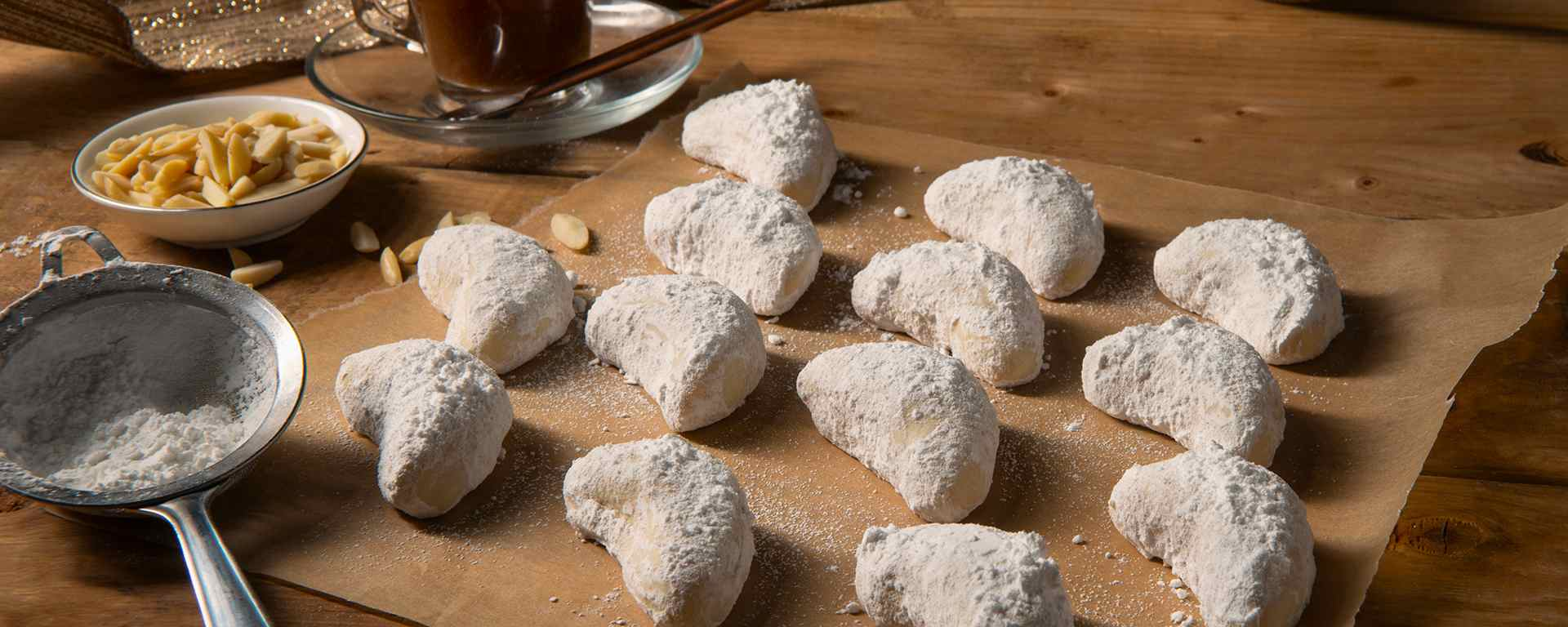 Photo for - Kipferl - German Almond Crescent Cookies