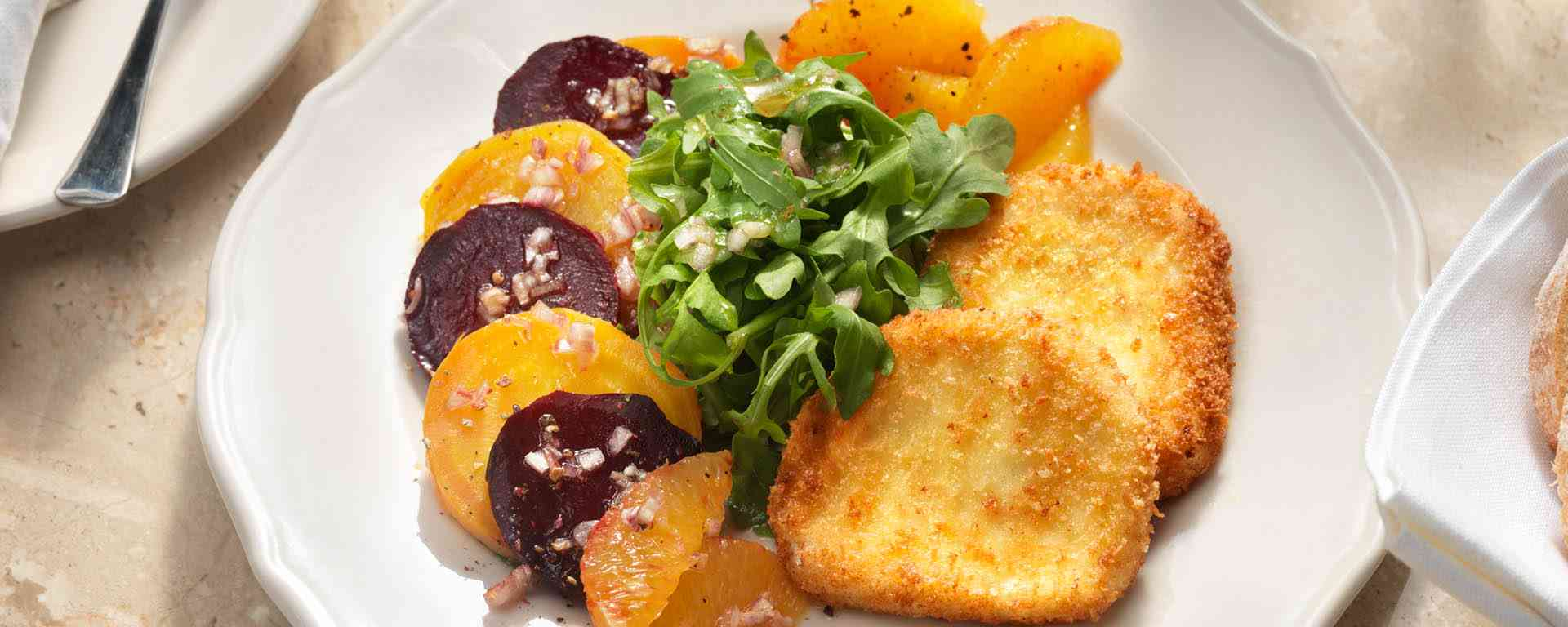 Photo for - Fresh Beet and Citrus Salad with Crusted Goat Cheese