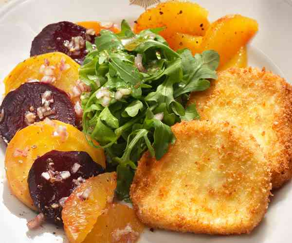 Photo of - Fresh Beet and Citrus Salad with Crusted Goat Cheese