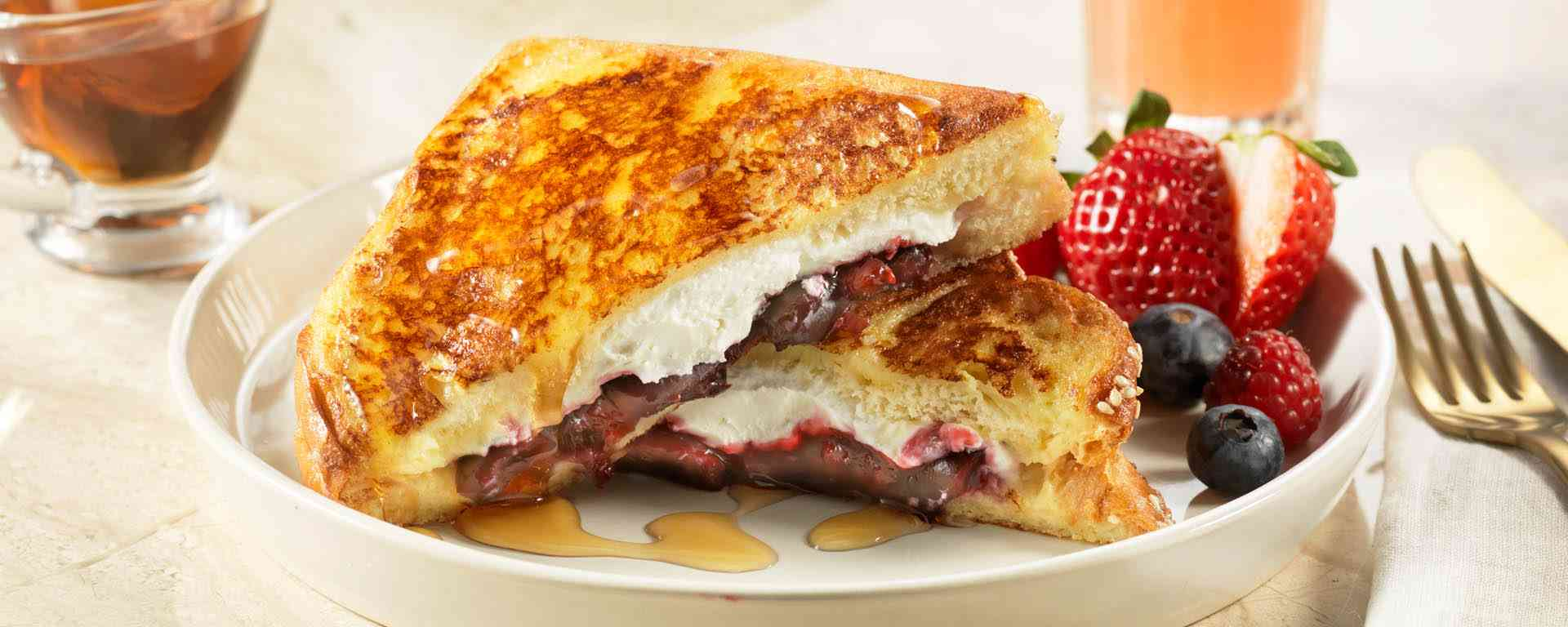 Photo for - French Toast Stuffed with Soft Goat Cheese