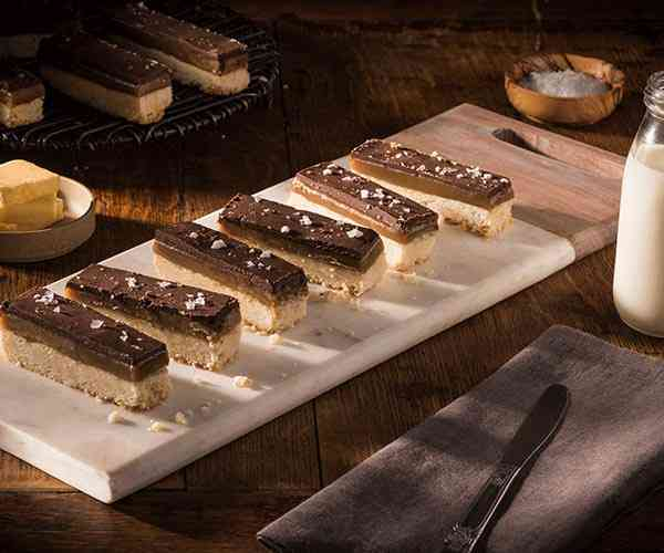 Photo of - Billionaire Layered Caramel Shortbread Bars