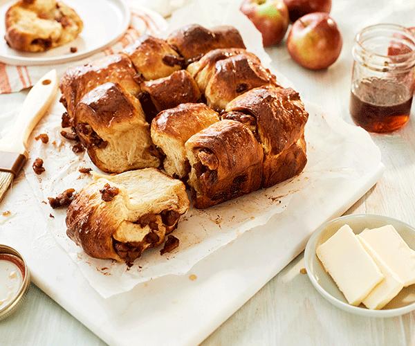 Photo of - Petits pains pomme, cannelle et sucre d'érable à séparer