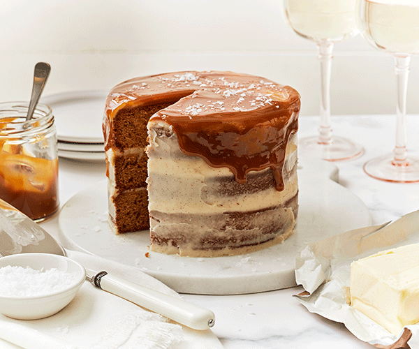 Photo of - Brown Butter Cake with Salted Caramel