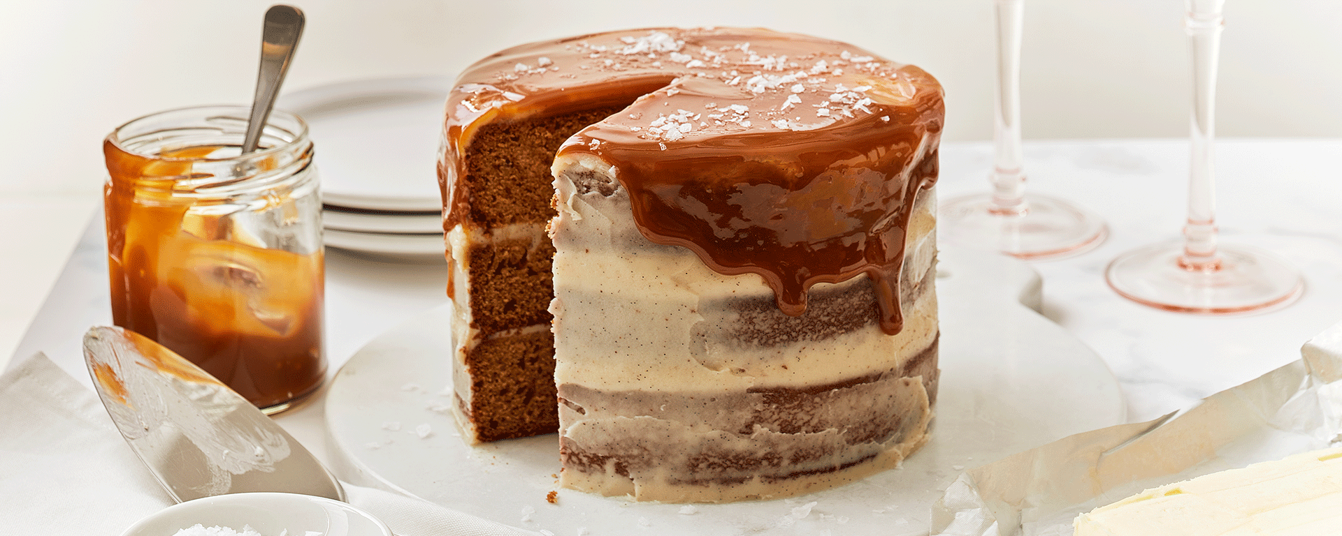 Photo for - Brown Butter Cake with Salted Caramel